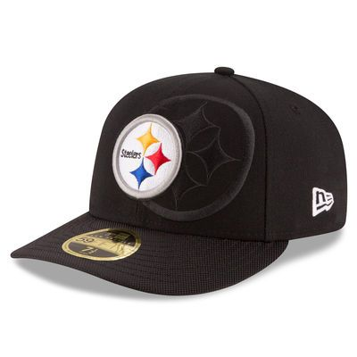 Men's New Era Black Pittsburgh Steelers 2016 Sideline Official Low Profile 59FIFTY Fitted Hat