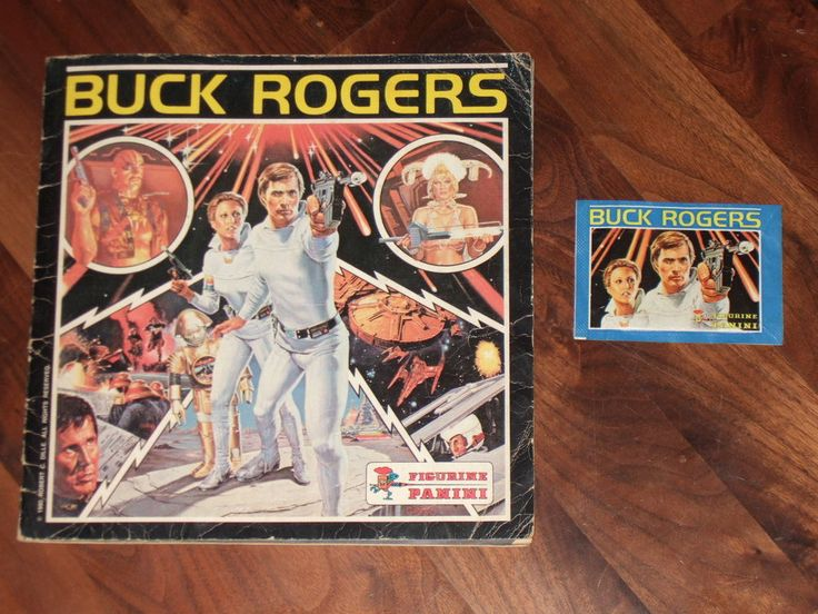Buck Rogers 1980 Panini Complete Sticker Album & Buck. 1 x Buck Rogers Complete 1980 Panini Sticker album, in great condition for its age. Also due to its age, again there are some age-commensurate marks throughout the album mainly, just associated with opening and reading and looking through it for many years&#x3b; these include marks, some marks and very small tears in and around the staples&#x3b; some foxing and just wear and tear with some small dog earring on the inner pa...