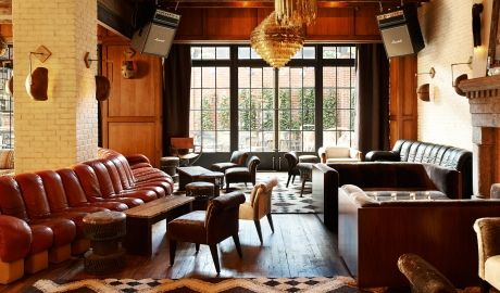 The Ludlow Hotel   Imagine New York of the 1980s with its tremendous art, early hip hop, and punk rock scenes. Then translate that vitality to a hotel on the Lower East Side. Put together you get The Ludlow Hotel. Book Unique Hotels up to 70% off clicking on photo.  #designhotels
