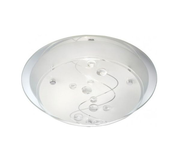 This flush ceiling light is designed to provide you with all the light you need and