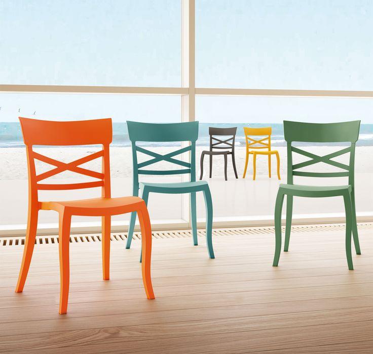 plastic chair, cafe chair, colourful chair,