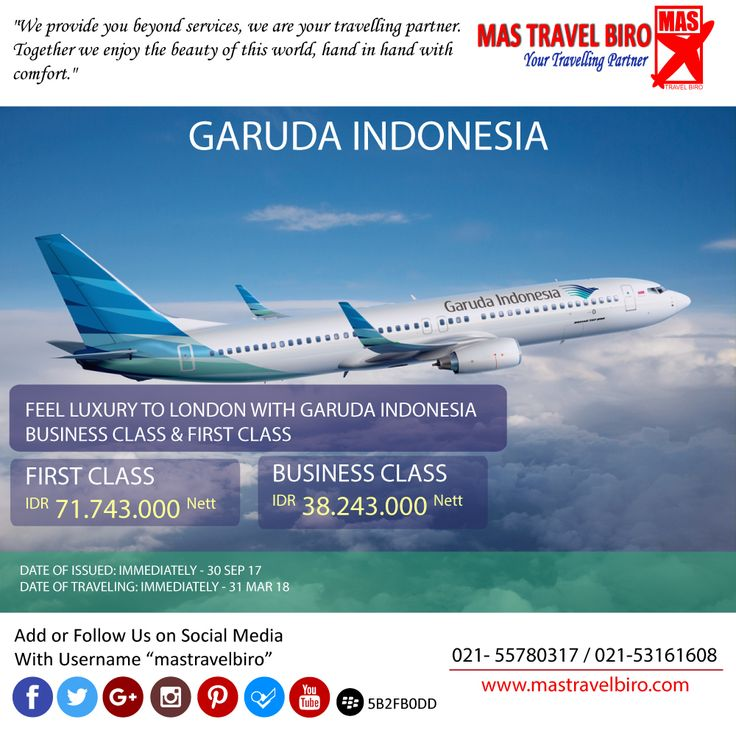 "Promo ""Garuda Indonesia"", rasakan penerbangan yang mewah ke London dengan BUSINESS CLASS dan FIRSt CLASS. Ayo pesan"