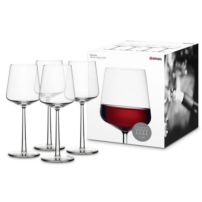 Essence+Red+Wine+Glass+Set+of+4,+Iittala