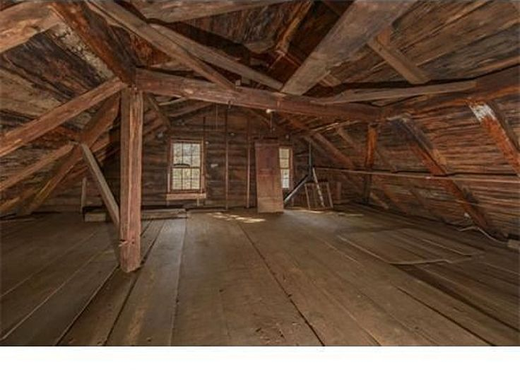 I love how rustic the attic in this 1693 home is. Would make for a great  reading spot (thinking Little Women would be a good first book to read up  here.