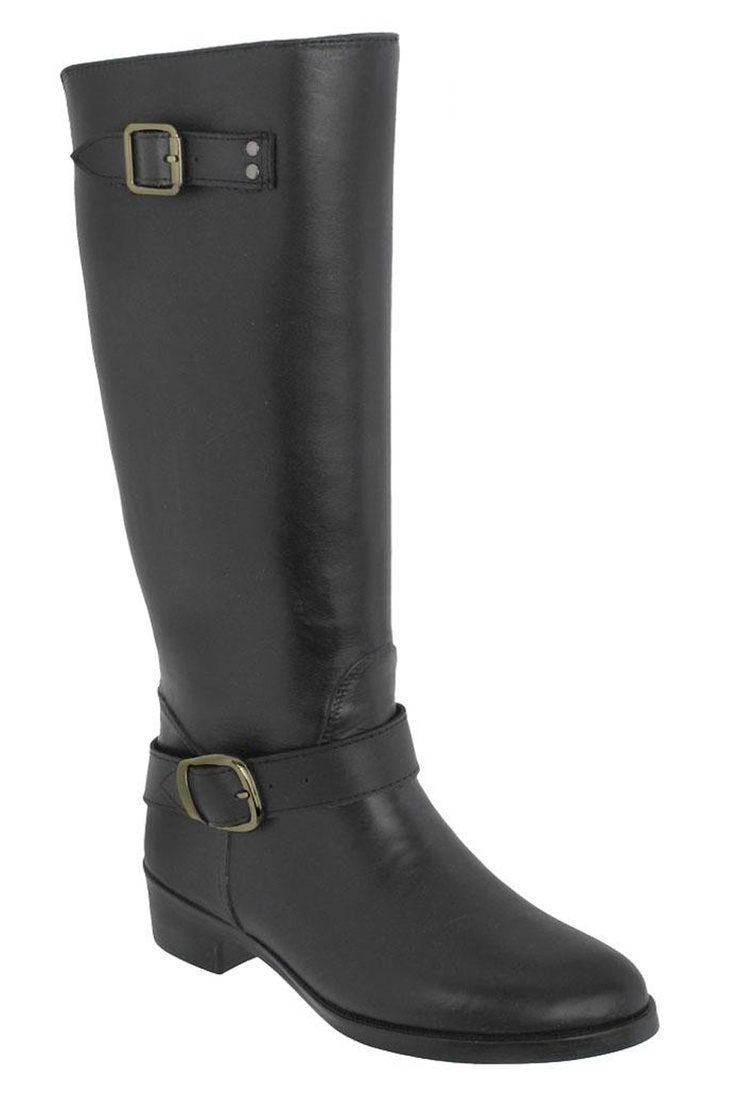Capelli Women's Belted Ankle Strap and Back Zipper Rain Boot