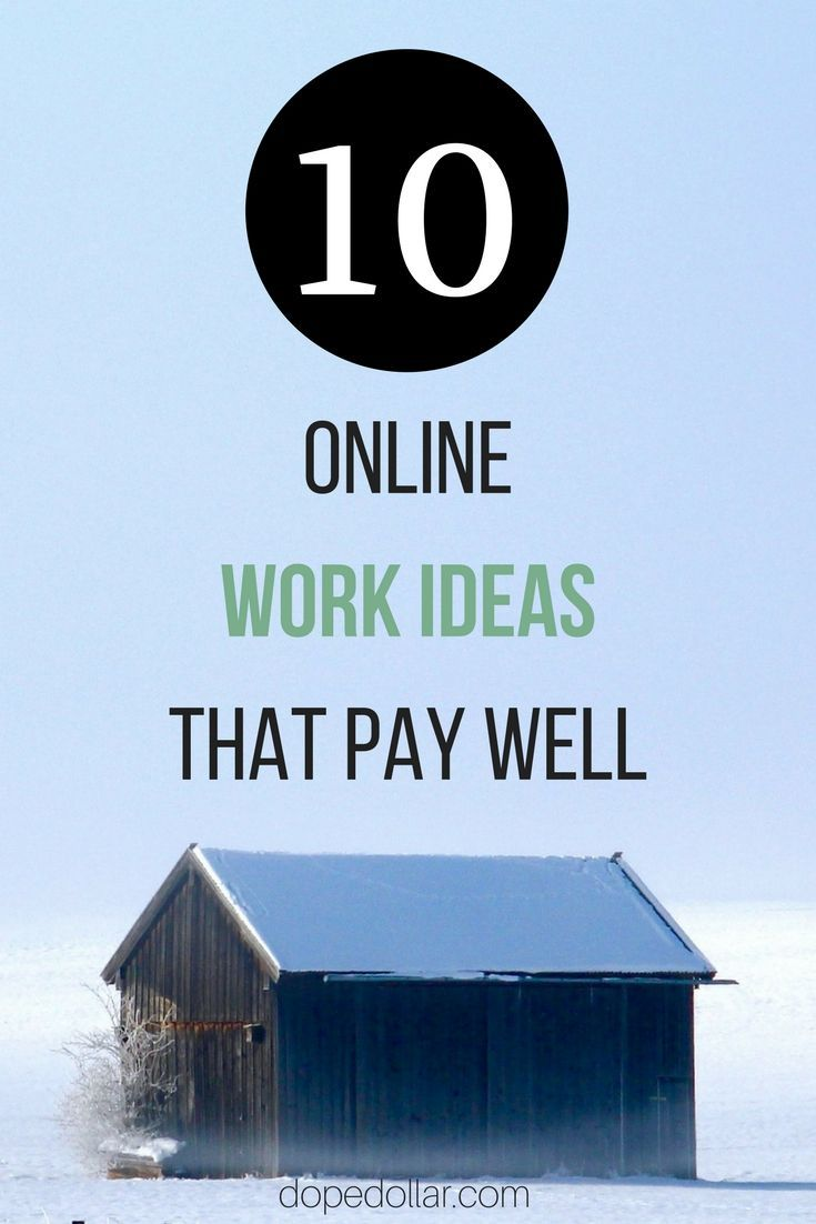 Here are the best online work ideas that make the most money. Click here to see them.