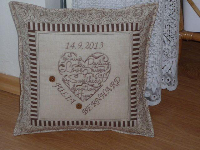 pillow - a wedding gift