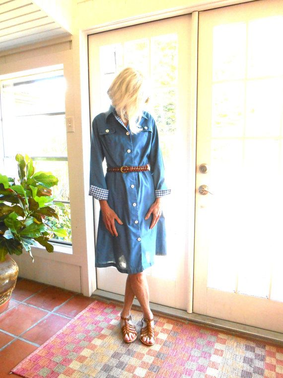 Vintage Miss Smith The American Look blue shirtdress by BopandAwe