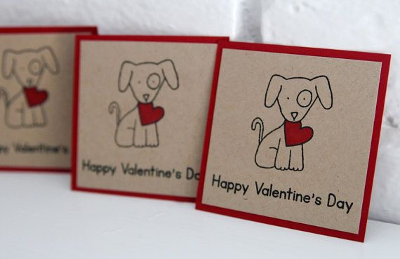 Dog with Heart Happy Valentine's Day Card by LaurasPaperCreations