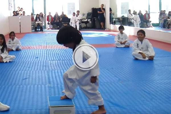Little boy trying to break board In Taekwondo (video): See more at theberry.com