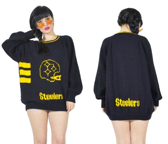 vintage 70s Steelers Sweatshirt vtg NFL Pittsburg by AsIfStore