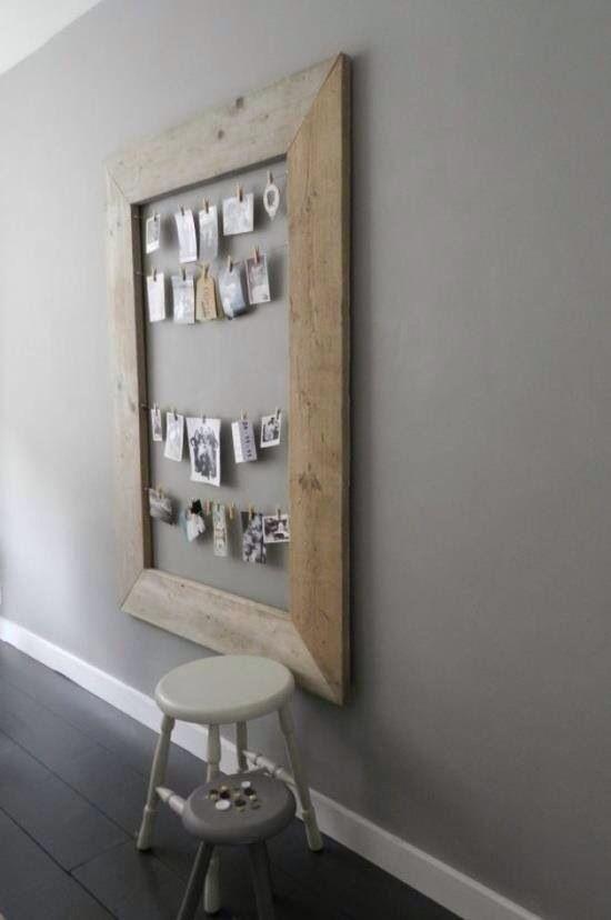 Steigerhout kader om kaartjes, foto's, ... op te hangen