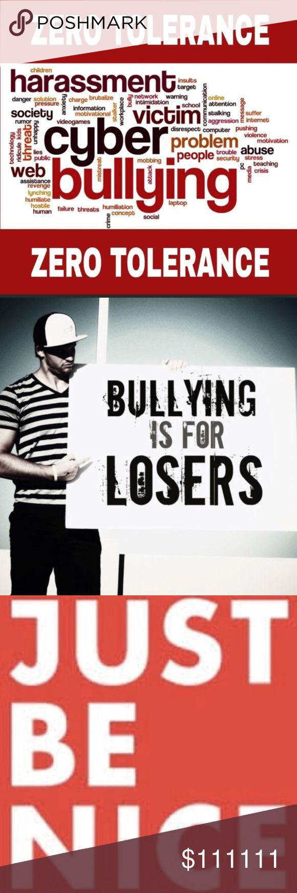 Zero Tolerance to Cyber Bulling! Please spread the word. Tag your PFFs in thus listing. Share with your followers and media.  Stop the bullying! 🛑 Stop the cyber bullying 🛑 If you see some bully please follow steps on pics to report them! Zero tolerance!!! Other