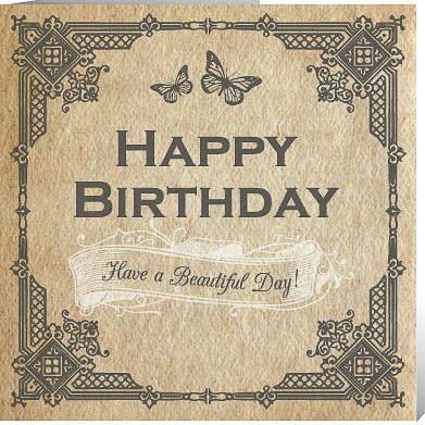 Vintage Happy Birthday | ... / Cards | Birthday & Occasion /Butterfly Birthday Card | Vintage Ink