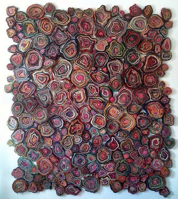 Slice by Susie Brandt Wool, thread. A piece from the C.S. Mott Children's Hospital and Von Voigtlander Women's Hospital art collection.