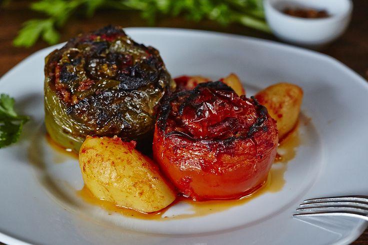 Γεμιστά (ντομάτα & πιπεριά) | Stuffed tomatoes & peppers