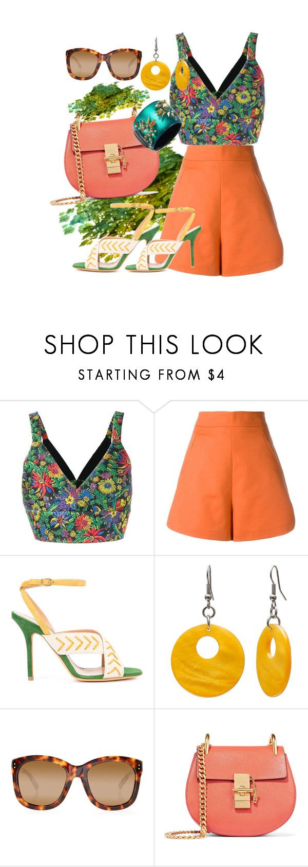 """""""Untitled #461"""" by pesanjsp ❤ liked on Polyvore featuring 3.1 Phillip Lim, Andrea Marques, ALEXA WAGNER, Mixit, Linda Farrow, Chloé and Alexis Bittar"""