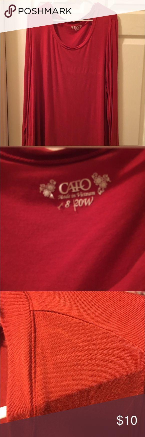 Cato long sleeve top Burnt orange long sleeve tshirt. Last color is the best. Cato Tops Tees - Long Sleeve