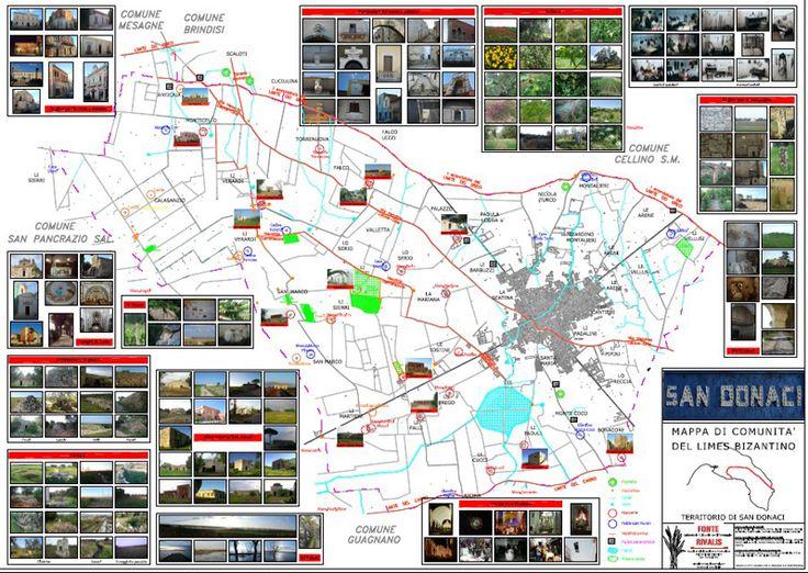 > Mappa di Comunità del Limes Bizantino  San Donaci (Br)