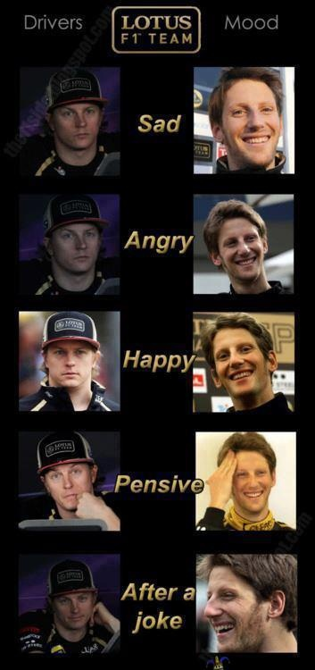 Kimi vs Romain-so very true :)