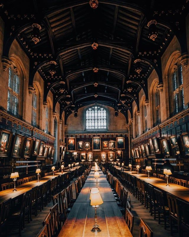 Christ Church College Dining Hall Oxford University England Mostbeautiful Oxford College Oxford University Hogwarts