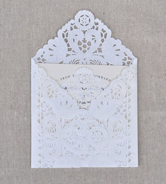 SAMPLE Lace Wedding Invitation Envelope Liner by BashoreDesigns, $2.50