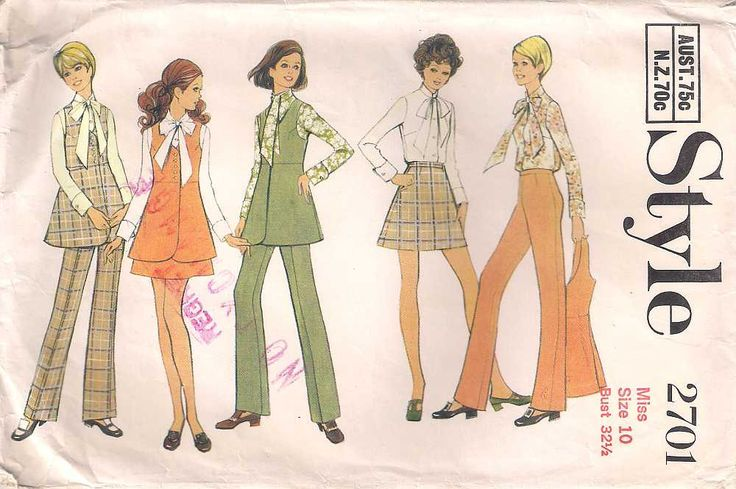 Style 2701 Sewing pattern, retro dressmaking, mini skirt pattern, blouse jacket complete pattern, miss size 10, 70s 1970s seventies, vintage by Rethreading on Etsy