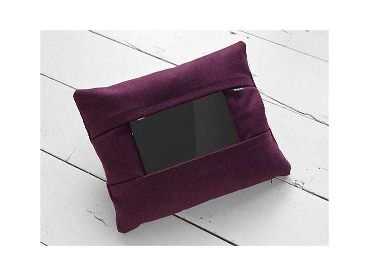 Tablet pillow purple