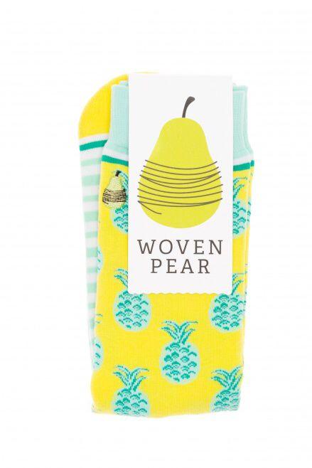 Pineapple socks. Woven Pear. Best. Socks. Ever.