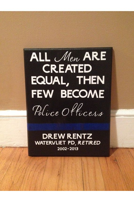Custom Police Officer Sign with Quote, Officer Name, Department and Badge Number. on Etsy, $40.00