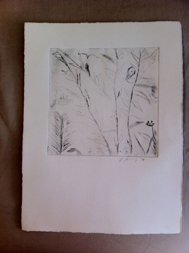 Kat's untitled etching 2014