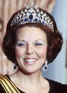 Queen Beatrix wearing the Mellerio Sapphire Tiara