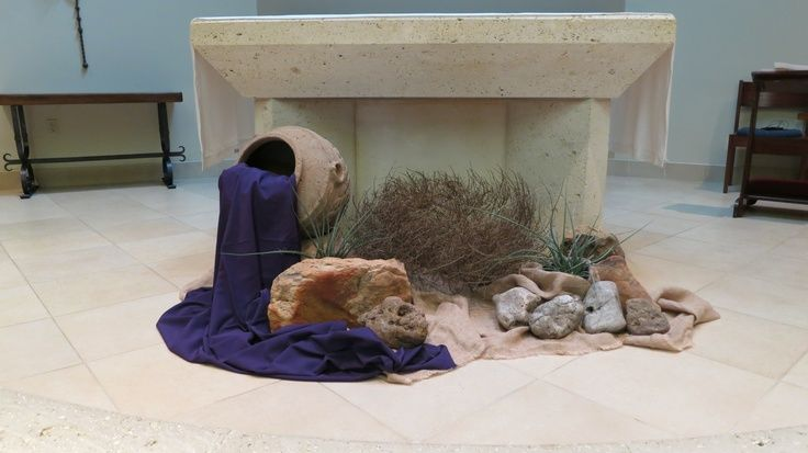 Lenten Church Decorations | Lent 2013 design for St. Mark's Episcopal Chruch in Corpus Christi ...