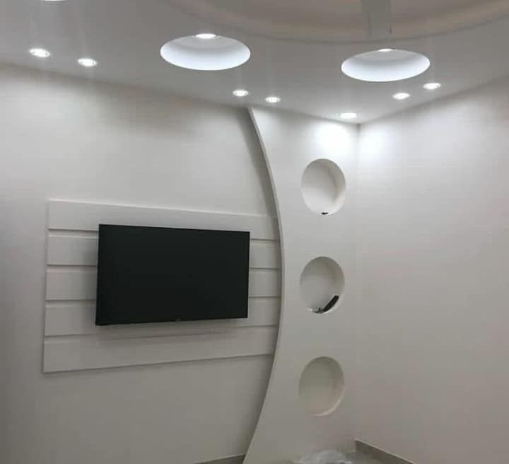 Pin By Ali Artizon On Gypsum Tv Wall Design Pop False Ceiling Design Ceiling Design Living Room