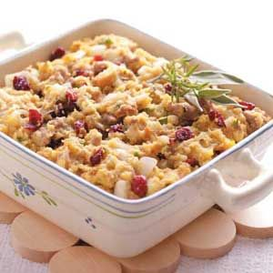 Cranberry Cornmeal Dressing: If you find cranberry dressing too tart you may