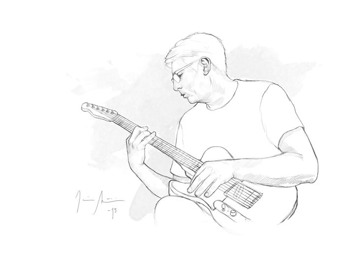 Guitar dad by Jenniina Martikainen