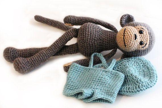 PATTERN : Monkey Amigurumi Monkey-pattern Crochet by AnatDolls