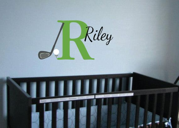 Monogram Golf Sport Theme Vinyl wall decal  Golf by WildEyesSigns, $40.00