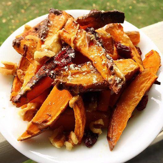 It's Foodie Friday! In honor of National Nachos Day, our theme this week = Nachos! These Sweet Potato Dessert Nachos make the perfect autumn dessert!