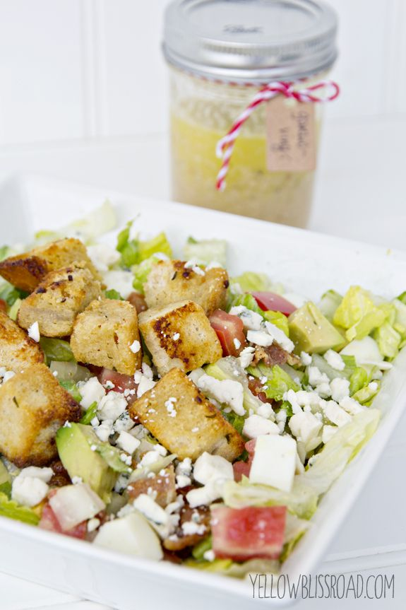 Chopped Cobb Salad with Homemade Garlic & Herb Croutons