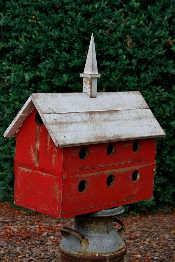 Purple Martin birdhouse, large barn birdhouse, functional birdhouse, rustic birdhouse, horse stable birdhouse,