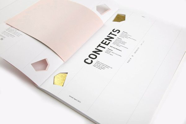 Craft Annual Report 2013 by Kristen Hancock, via Behance