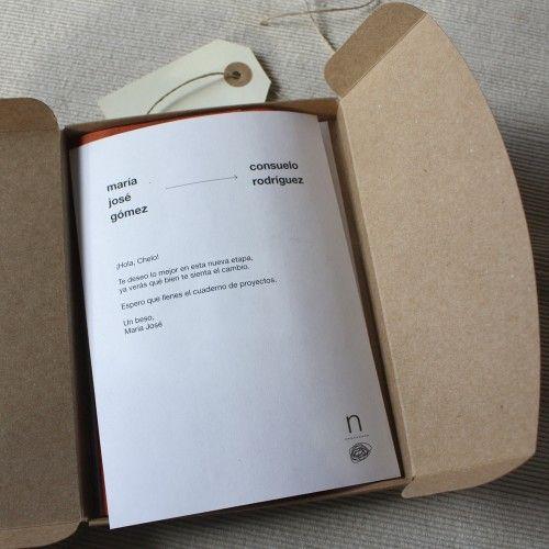 """Libreta """"nota y garabato"""": Carta con la dedicatoria que nos hayas indicado"""