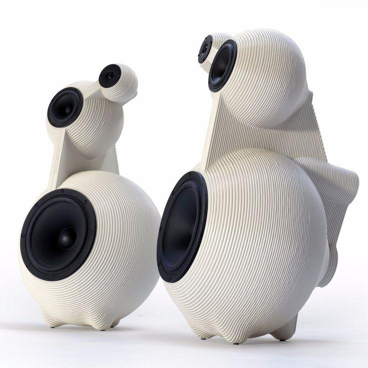 """3D printed! - snowmen high end speaker set woofer 12"""" dirk vander kooij"""