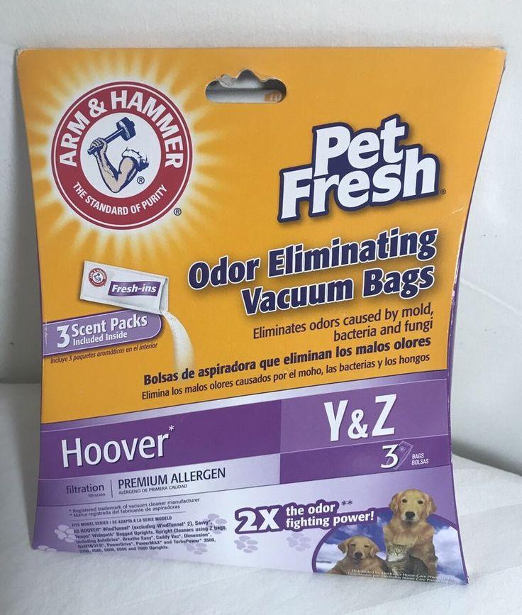 Hoover Y & Z Vacuum Bags Pet Fresh Odor eliminating Arm & Hammer Allergen Free 3    eBay