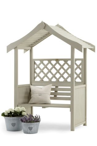 Salisbury Arbour from Next. £199 in natural finish. Garden Paint available from Next in French Grey.