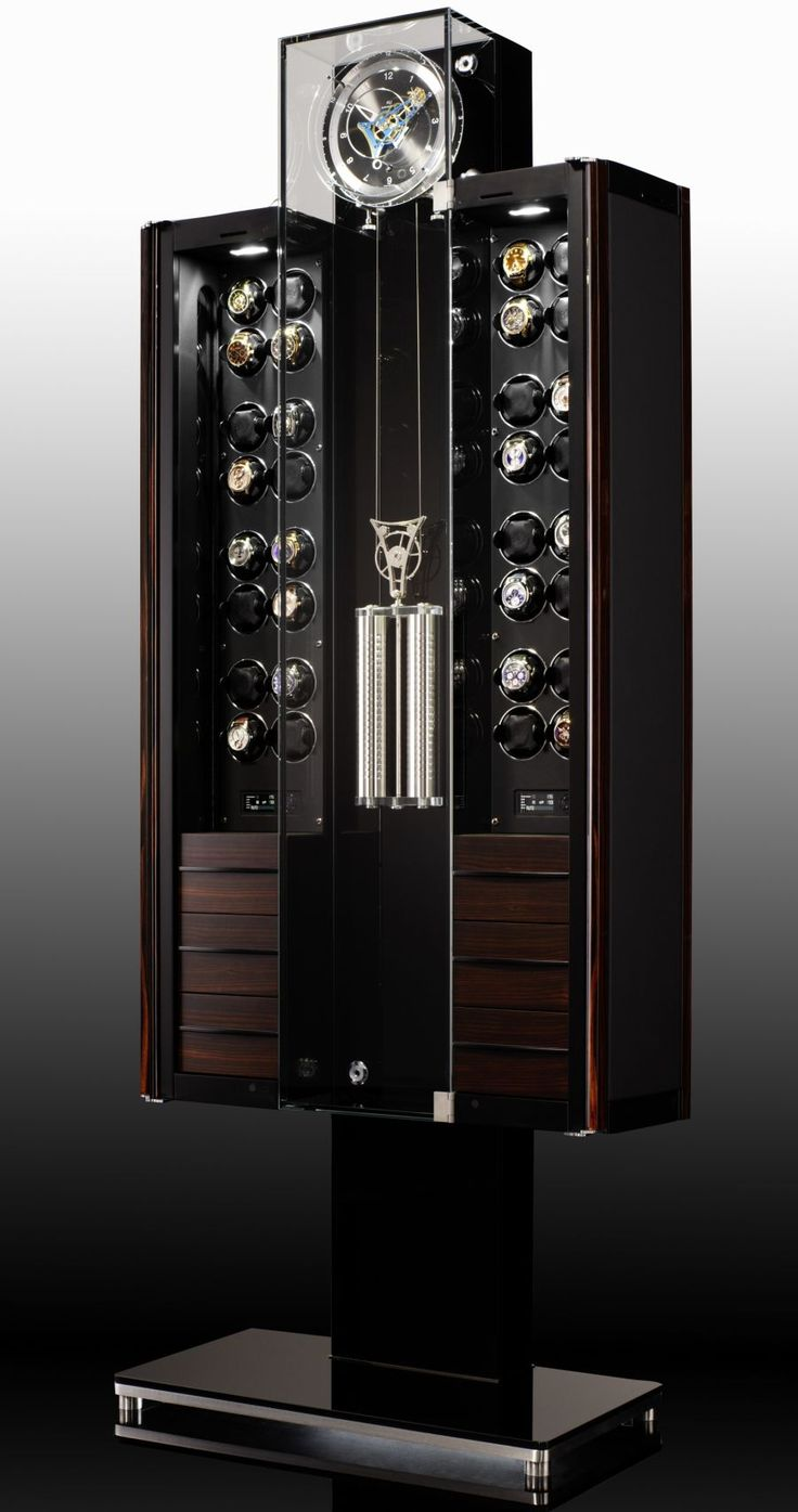 Oridt Tourbillon, Watch Winder, Clock, Humidor, and Wine Storage | Buben & Zörweg. Fore more inspirations: www.bocadolobo.com Safes, luxurysafes, luxurylifestyle, exclusive design