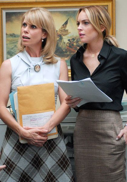 Cheryl Hines and Lindsay Lohan in Labor Pains (2009)