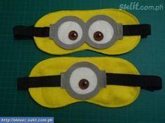 mascara de dormir minions - Pesquisa Google                                                                                           Más