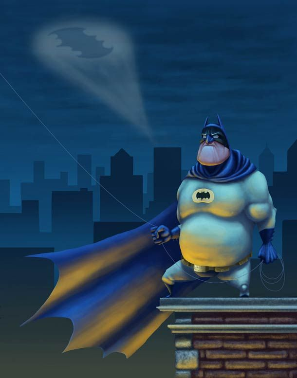 [Illustration] Fat #Batman ! #LULZ
